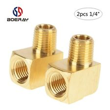 "2pcs 1/4"" NPT Male Pipe ,NPT Female  Pipe Fitting, 90 Degree Brass Street Elbow"