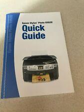 Manual for Epson Stylus Photo RX 620 printer