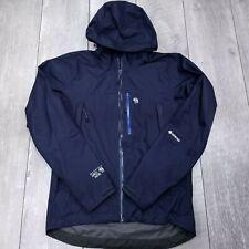 Mountain Hardwear Exposure Gore-Tex Paclite Jacket Mens Small Blue Full Zip Rain