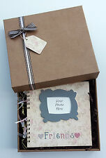 "Friends Scrapbook gift, 8""x 8"" photo album, handmade memory book,can personalise"