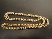 "VTG GIVENCHY Chunky Thick Gold Ornate Chain Necklace 25""Long"