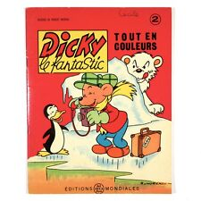 "Vintage French Children's Book Cartoons, ""Dicky le Fantastic"" Bear, Moreau, 1963"