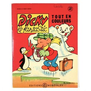 "Vintage French Children's Book Cartoons, ""Dicky le Fantastic"" Bear, Moreau, 1963"