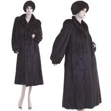 Mint! Fashionable Genuine Mahogany Female Mink Fur F/L Coat w/Free $350 Mink Hat