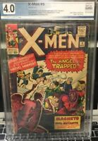 Hot! X-Men#5 2nd App Of Scarlet Witch Quicksilver 3rd App Of Magneto PGX Not CGC