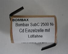 Bombax 1,2V / 2500mAh SubC NiCd Einzelzelle m. U-Lötfahne