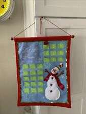 Advent Calendar Snowman Felt.Hanging.Let It Snow.Christmas 18�x14�