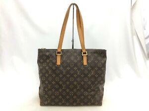 """Auth Louis Vuitton Vintage Monogram Cabas Mezzo Shoulder tote Bag 0G090140n"""""""