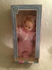 Vintage 1970 Effanbee Little Button Nose Baby Doll In Box Pink Sleeper Pajamas