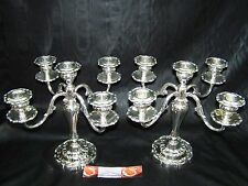 RARE GORHAM STERLING 5 ARM CANDLE LOUIS XV CANDELABRA SET ~ GRAND SUPERB LOOKING