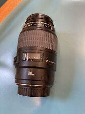 Canon EF 100mm f/2.8 USM Macro Lens - Excellent Condition - With Filter & Caps