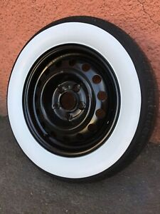 """3"""" Wide Whitewall  tire wall trim Set of4 Hot Rod Custom Car ford chevy mopar 4x"""