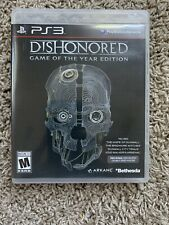 PS3 Dishonered Game Of The Year Edition W/ Poster Complete