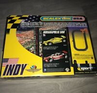SCALEXTRIC USA INDY ADVANCED TRACK SYSTEM SLOT CAR SET