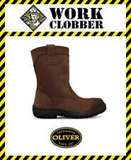 Oliver 250mm Brown Pull On Riggers Safety Boot34692 NEW IN BOX!