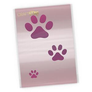 Paw Print Stencil - Cat / Dog Paw Prints Stencil Set