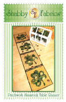 Pattern ~ PATCHWORK SHAMROCK TABLE RUNNER ~ by Shabby Fabrics