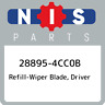 28895-4CC0B Nissan Refill-wiper blade, driver 288954CC0B, New Genuine OEM Part