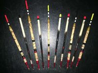 x10 Handmade Waggler/stick Floats vintage river coarse traditional