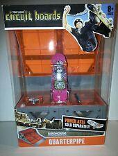 Tony Hawk Circuit Board Hexbug Quarterpipe Ramp & 1 Pink Staab Skateboard Age 8+