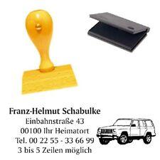 Adressenstempel « AUTO 1 » mit Kissen - Firmenstempel - KFZ Werktstatt