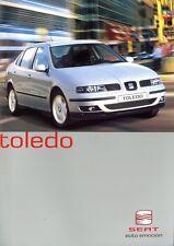 Seat Toledo Prospekt 2001 2/01 D Autoprospekt brochure prospecto brosjyre Auto