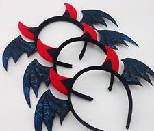 2xPC Kids Women Girls Lady Party Halloween Bat wing Costume Hair Headband Hoop