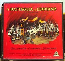PREVITALI verdi la battaglia di legnano 2 LP VG+ LPC 1220 Cetra ED1 Italy Mono