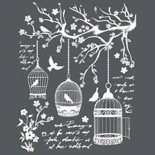 NEW Stamperia Mixed Media Thick Stencil Little Cages