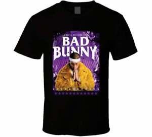 Bad Bunny Spanish Trap Regueton Reggaeton Black T Shirt A9536
