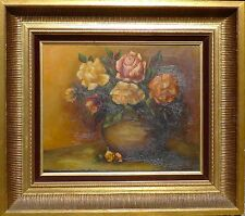 Magnificent Flowers Still Life with Rosenstrauss and Vase/Oil Painting Signed