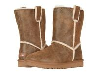 Women's Shoes UGG Classic Short Spill Seam Bomber Boots 1098409 CHESTNUT *New*