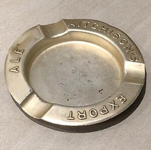 """Rare Vintage Aitchison's Export Ale Aluminium Pub Ashtray. 4.5"""""""
