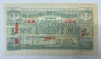 1914 El Estado De Chihuahua 50 Centavos BK13 UNC