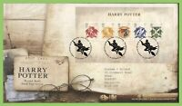 G.B. 2007 Harry Potter mini sheet on Royal Mail First Day Cover, Alcester
