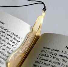 Scholarly Gold Feather Bookmarks Beautiful Metal Fiction Magazine School CAD EFO