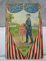 "Vintage Embossed ""Decoration Day"" Post Card Unused"
