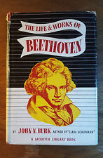 The Life and Works of Beethoven, John Burk,(1943), Modern Library Book