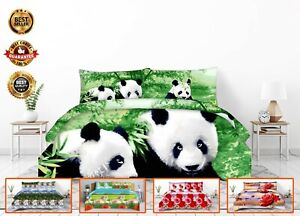 3D Animal Print Bed Sheets Covers Duvet Quilt Cover Set & Pillowcase Bedding