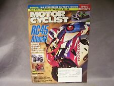 Harley's faithful Love Ride For MD Mar 1994 Motor Cyclist, RC45 Attack