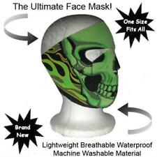 Biker Mask Neon Green Neoprene  Full Face Mask