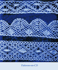 Victorian Bobbin Lace making patterns teaching guide Cd