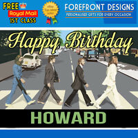 Personalised The Beatles Birthday Card