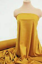 PONTE STRETCH DOUBLE KNIT FABRIC MUSTARD B /GOLD DRESSES  WESTERN WEAR CLOTHING