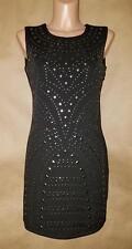 Romeo & Juliet Couture Fabulous Studded Little Black Dress—Size M