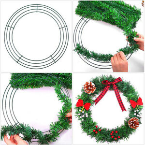 Christmas Round Metal Wreath Frame Ring DIY Macrame Floral Crafts Wire Form