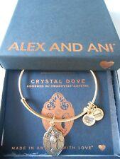 Alex and Ani CRYSTAL DOVE Expandable Bracelet Rafaelian Gold NWTBC