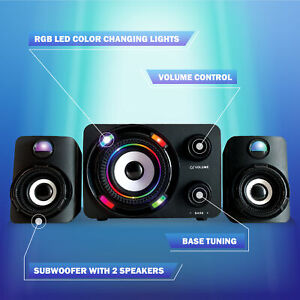 Bugha Exclusive Color Change RBG LED Gaming Speakers & Subwoofer PC XBOX PS5 Set