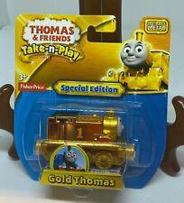 THOMAS & FRIENDS - TAKE N PLAY GOLD THOMAS TRAIN ENGINE  2014