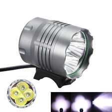 8000Lm 4x CREE XML T6 LED Head Front Bicycle Lamp Bike Light Headlamp Headlight